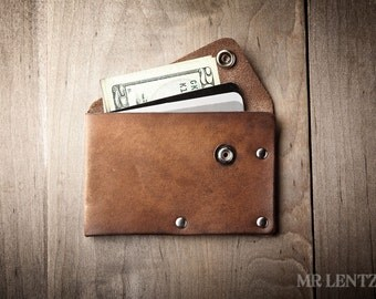 Card Wallet, Credit Card Wallet, leather card wallet, mens card wallet, thin wallet, simple snap wallet  020