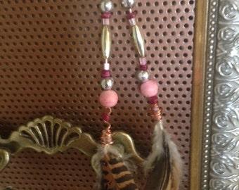 Trendy feather earrings!