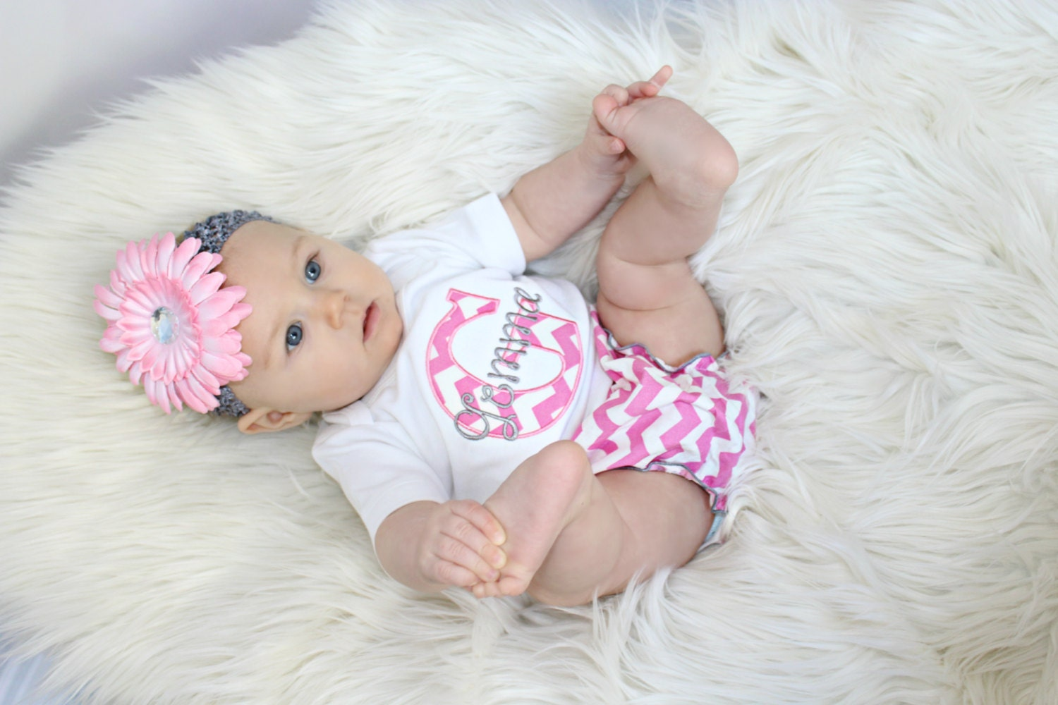 Personalized baby girl clothes newborn take home outfit
