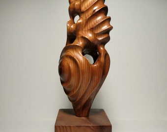 RESERVED FOR CLIENT - Abstract Wood Sculpture Cedar Wood