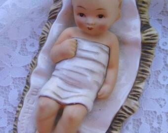 SALE-Large Vintage Hummel/Goebel Full Bee German Nativity Baby Jesus Figurine
