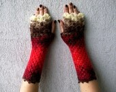 Fingerless Gloves, Knitted Arm Warmers, Hand Warmers, Fall Mittens, Women Gloves, Arm Warmers Scaled Fingerless mittens Gothic gloves