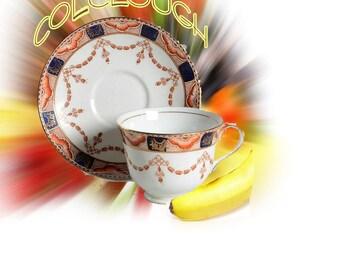 """Colclough """"Imari"""" Cup and Saucer"""
