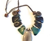 Earth-Tone Tagua Nut Necklace- Eco-friendly Jewelry