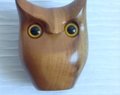 Wood Modernist Owl Sculpture. Myrtlewood.  Vintage 1960, Modernist. Mod, Mid century, Danish Modern, Eames, Bojesen era.