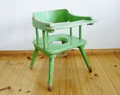 Vintage Wooden Baby Toddler Toilet Potty Training Chair Tops for Tots 1940