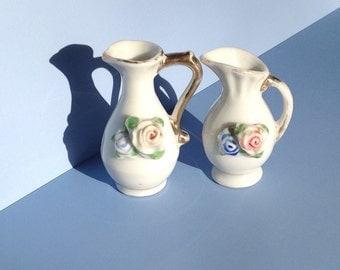 Occupied Japan Miniature pair of Ceramic Pitchers