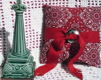 Country Wedding Ring Bearer Pillow - Wedding, Bridal, Wedding decor