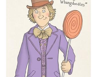 Willy Wonker - Gene Wilder - Illustration Print