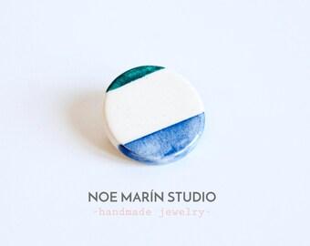 Ceramic brooch, minimalist jewelry, Minimalist ceramics brooch, Ceramics  pottery, Ceramics & pottery, Geometric ceramic jewelry, Noemarin
