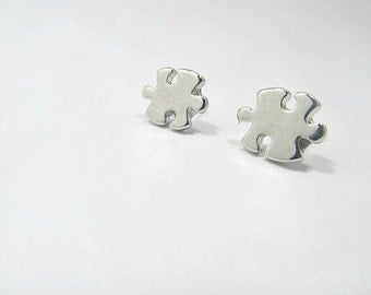 Autism Puzzle Piece Stud Earrings