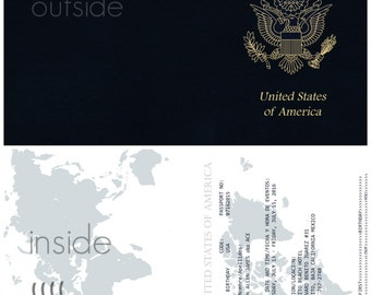 Around the World Passport Invitations - Prom and Birthday