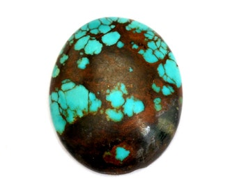 Turquoise Cabochon Stone (27mm x 22mm x 6mm) 26.5cts - Oval Cabochon - Tibetan Turquoise - Blue Turquoise