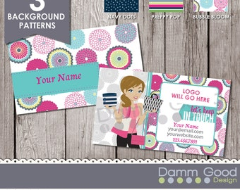 Digital papers velata backgrounds circles by dammgooddesign for Bedroom kandi business cards