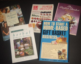 5 books, set of books, starting a business, business books, craft books business, how to books, business how to books, make your own books.