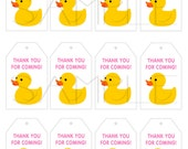 Instant Download - Printable Favor Tags Digital File - You Print Yourself