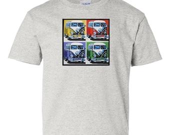 Vintage Volkswagen (VW) Bus Pop Art T-Shirt