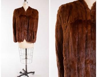 40s Vintage Fur Stole Golden Brown Vintage 1940s Fur Cape Shawl with Scalloped Trim