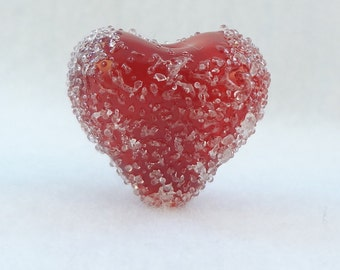 "Lampwork Heart Bead Pendant - ""Lasting Love"""