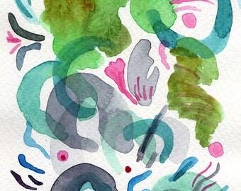 Small abstract painting. Original Abstract Painting. Small watercolors. Modern watercolor abstract art. Modern abstract art original