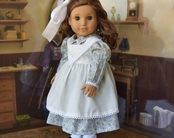 1914 Dress and Pinafore Set for 18 inch Doll