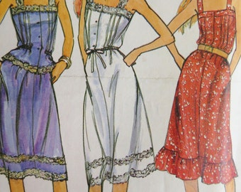 Butterick 3168 Sundress, Camisole top, Skirt, Vintage 80s Sewing Pattern, Size 12, Bust 34