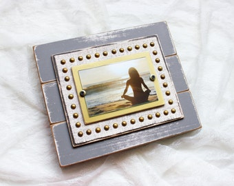 Distressed Picture Frame | Distressed | Gray Frame