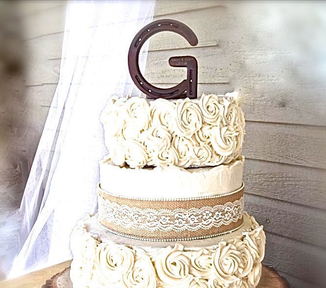 wedding cake topper letter g custom cake topper letter g engraving available 26348
