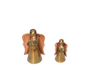 Brass Angel Copper Angel Angel Candleholder Angel Candlesticks Brass Angels Copper Angels Christmas Decorations Angels