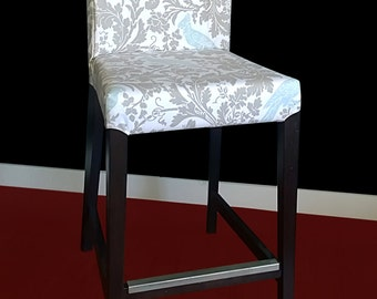 IKEA HENRIKSDAL Bar Stool Chair Cover - Barber Taupe Grey