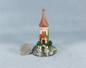 Handcrafted Miniature Fairy Castle OOAK by O'Dare