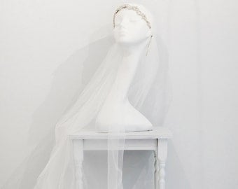 Crystal beaded juliet cap wedding veil, Juliet Cap Wedding Veil, Single Tier Wedding Veil, Floor length veil, Chapel length veil, Cathedral,