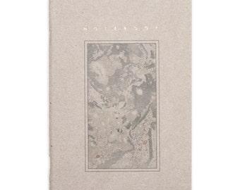 Agmen - marbled frame notebook - gold letters - handmade letterpress printed - NOTPGA5001