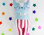 Cat Soft Toy - Confetti Cats Blue Cat Plush Doll