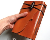 "Leather Journal handmade, Leather Notebook, Leather Sketchbook, Leather Diary, Travel Journal, Monogram Optional ""Meditatio"" Series A6."