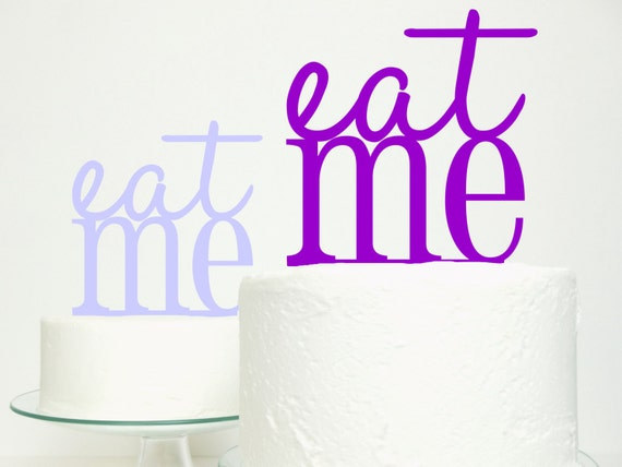 Wedding Cake Topper - 'Eat Me' Original Miss Cake Design