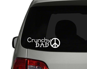 Crunchy Dad Window Decal Bumper Sticker