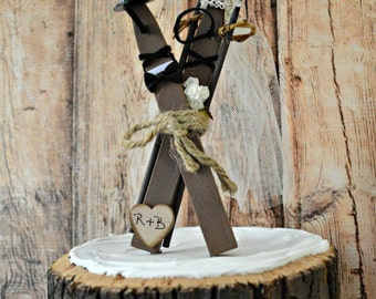 skiers wedding cake toppers winter wedding cake topper etsy 20178