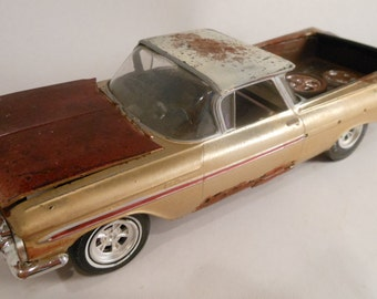 Old School Classicwrecks Scale Model Rusted Car Chevy El Camino