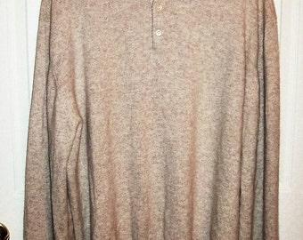 Vintage Men's Light Tan Cashmere Sweater Joseph & Lyman XXL Only 15 USD