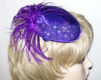 Purple Fascinator Hat