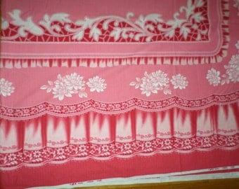 Like New/COTTON CHINESE TABLECLOTH/7u0027 X 8u0027/Bright Pink/