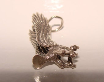 Eagle Sterling Silver Charm,or Pendant