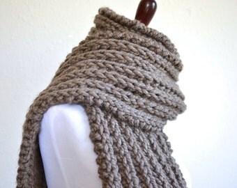 Chunky Knit Scarf // Oversize Chunky Knit Scarf // Knit Scarf // Boho Oversized Scarf // Ribbed Scarf // Chunky Scarf // Knit Scarves