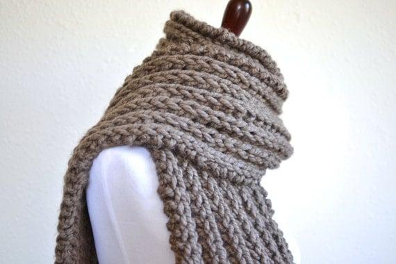 ... Scarf // Knit Scarf // Boho Oversized Scarf // Ribbed Scarf // Chunky