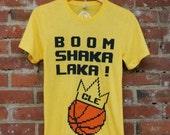 Unisex SUPER SOFT TriBlend Tee - 'Boom Shaka Laka' Cleveland Champs on Yellow Gold