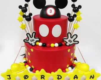 Mickey Mouse Birthday Cake Decorations: Everything You Need To Decorate This Mickey Mouse Cake