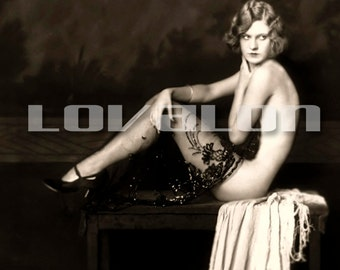 MATURE... Gloomy Sunday... Deluxe Erotic Art Print... 1920's Vintage Nude Glamour Photo... Available In Various Sizes