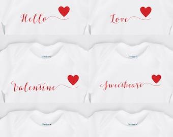 Valentine's Day Onesie - Personalized - Valentines Onesie - Calligraphy