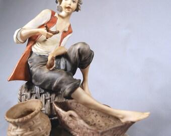 Capodimonte Giuseppe Armani studio Porcelain Boy Figurine, 1970s